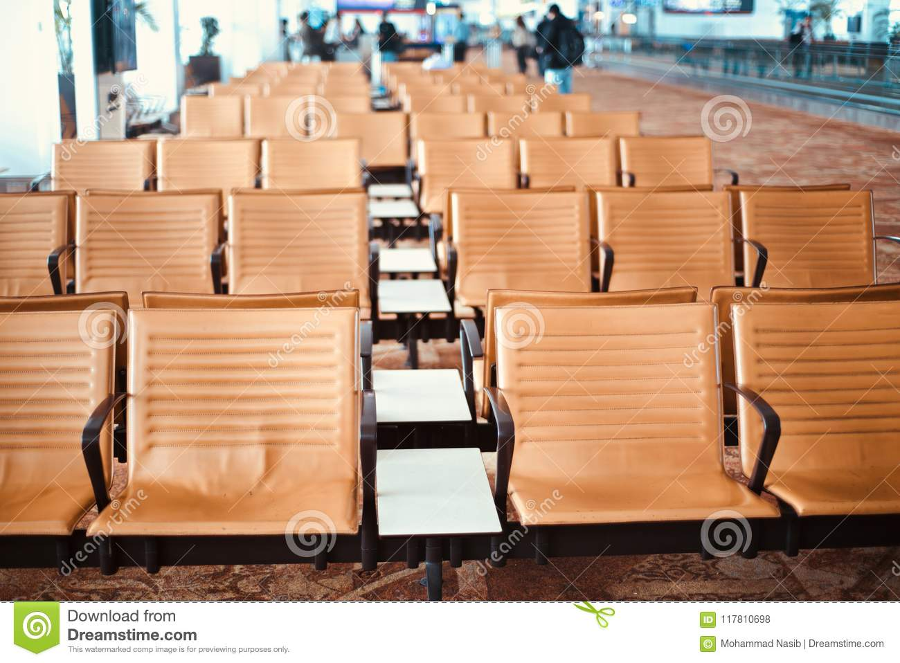 Download Stylish Metallic Chairs Of An Airport  Unique Photo Stock Photo - Image of banner, chairs: 117810698