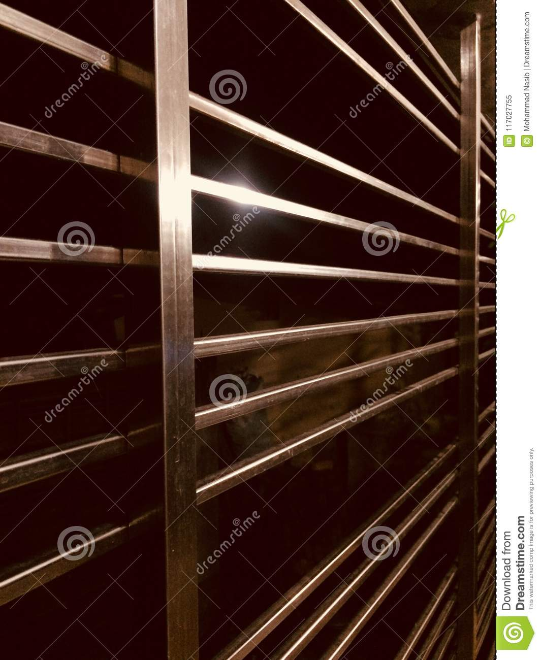 Download Stylish Metallic Interior Protection Grill Object Photograph Stock Image - Image of idea, wall: 117027755