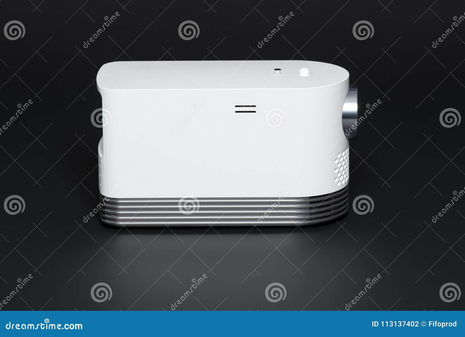 Stylish mini home cinema LED projector, lightweight tech gadget