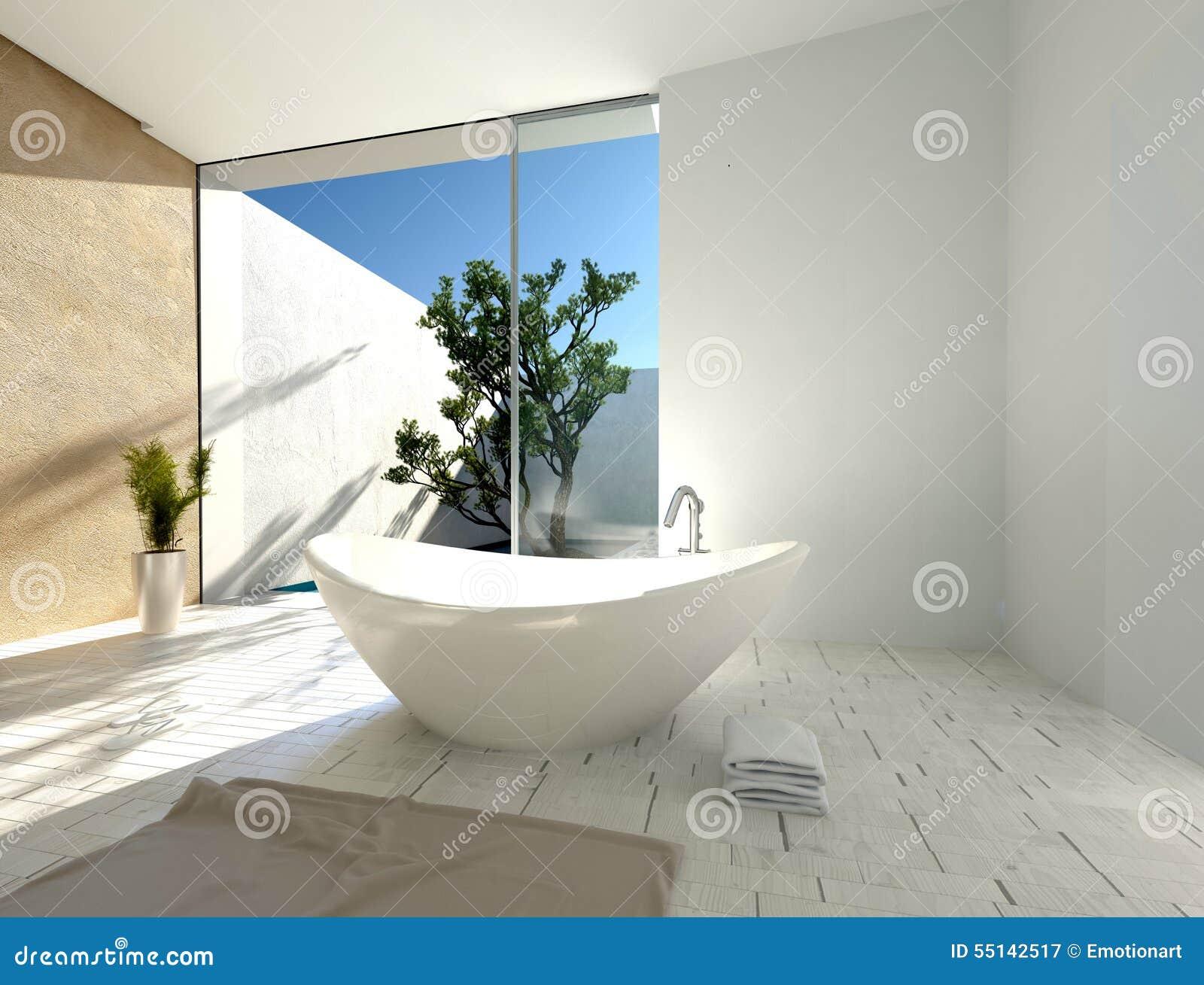 Stylish modern boat-shaped bathtub