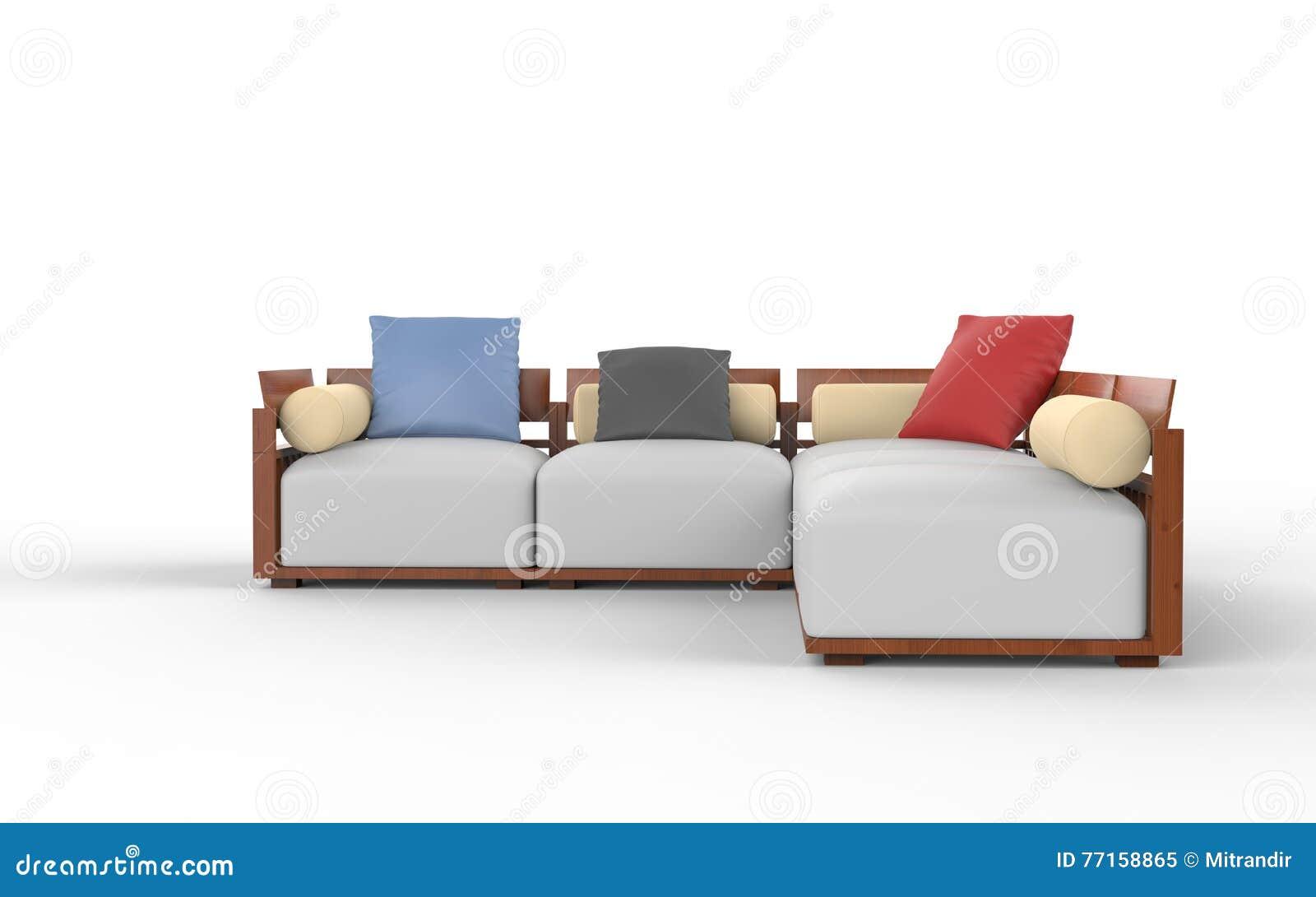 Amazing Stylish Modern Corner Furniture Set Stock Illustration Interior Design Ideas Gentotryabchikinfo