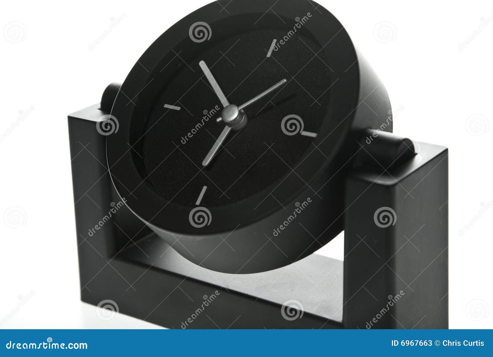 stylish modern office desk clock stock photos - Designer Desk Clock