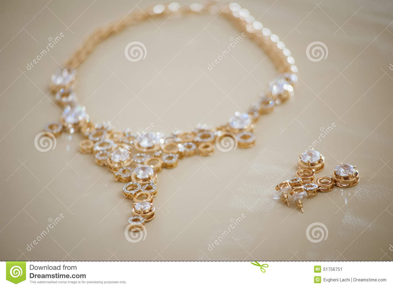 stylish necklace for bride stock image image of female 51756751