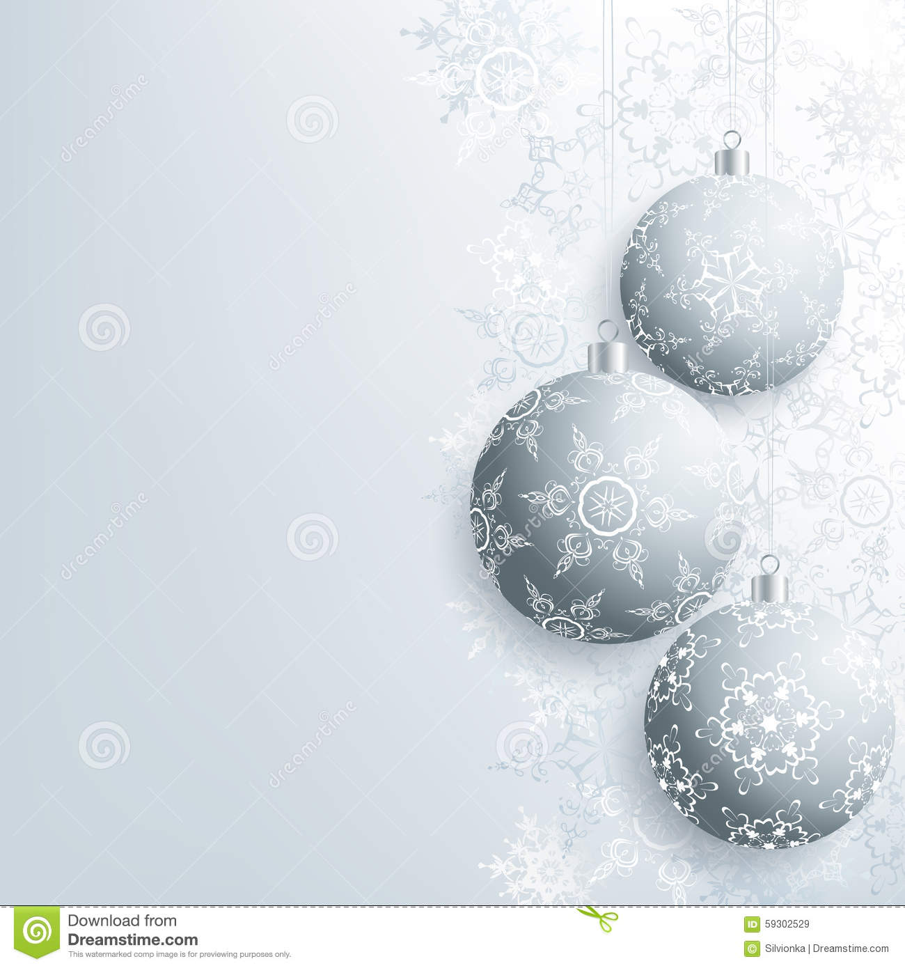 stylish new year and christmas card with christmas ball