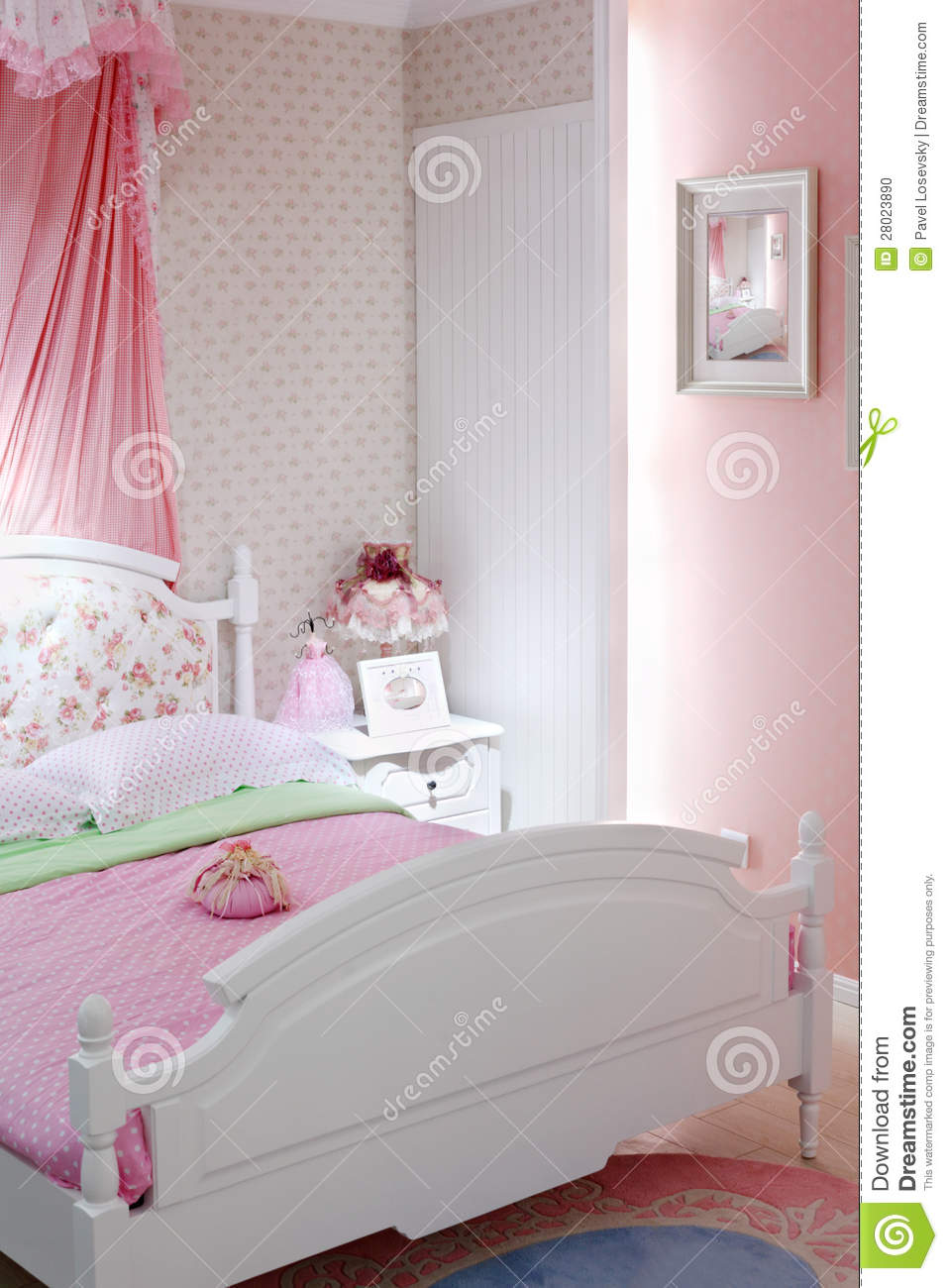 stylish pink bedrooms stylish pink bedroom with bed stock photo image 13418