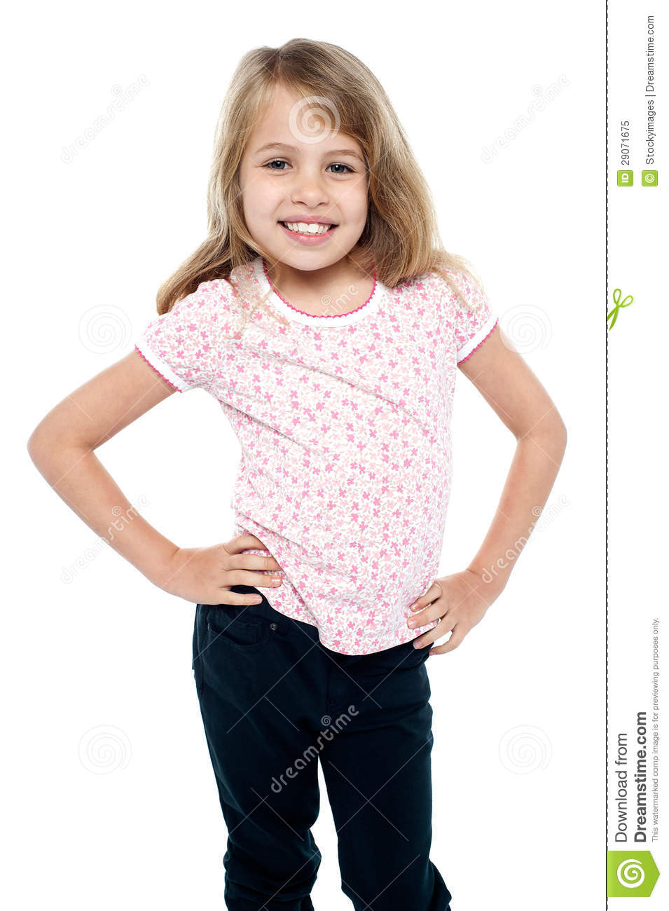 Glamorous Female Posing With Hands On Her Waist Royalty Free Stock Photo