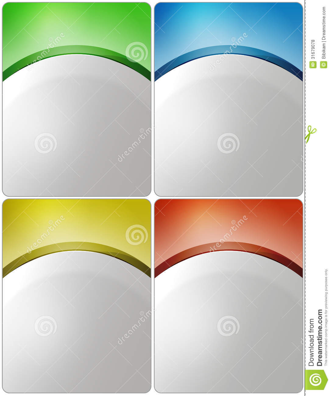 free downloadable poster templates - stylish presentation of business poster stock vector