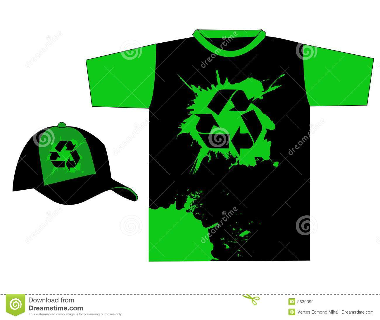 Shirt design green - Stylish Recycle T Shirt Design Vector Royalty Free Stock Images