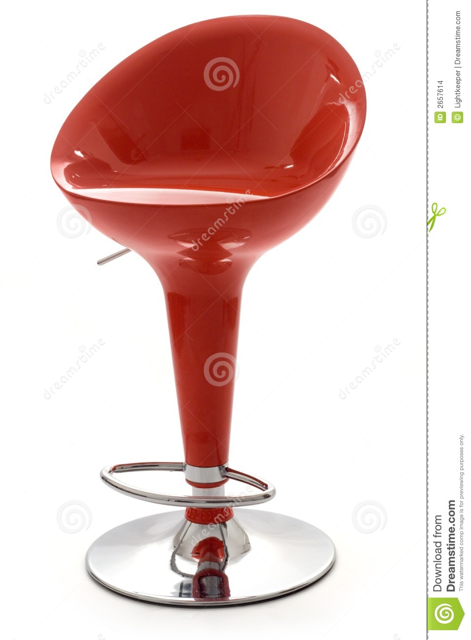 Stylish Red Bar Stool Stock Photo Image Of House