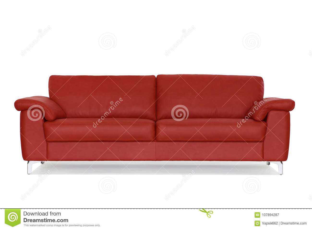 Red Sofa With Metal Legs