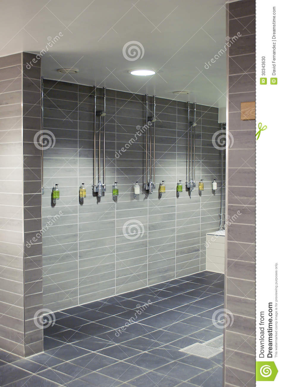 Stylish Shower Room Stock Photo Image Of Clean Tiled