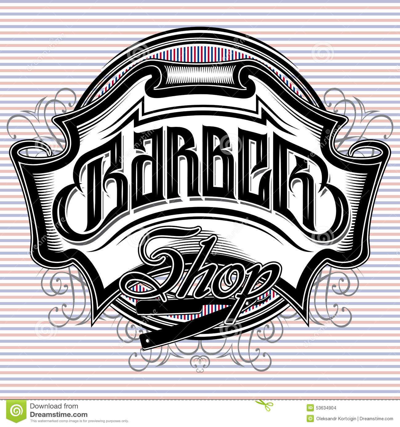Antique barber shop sign - Stylish Sign For A Barber Shop Stock Images