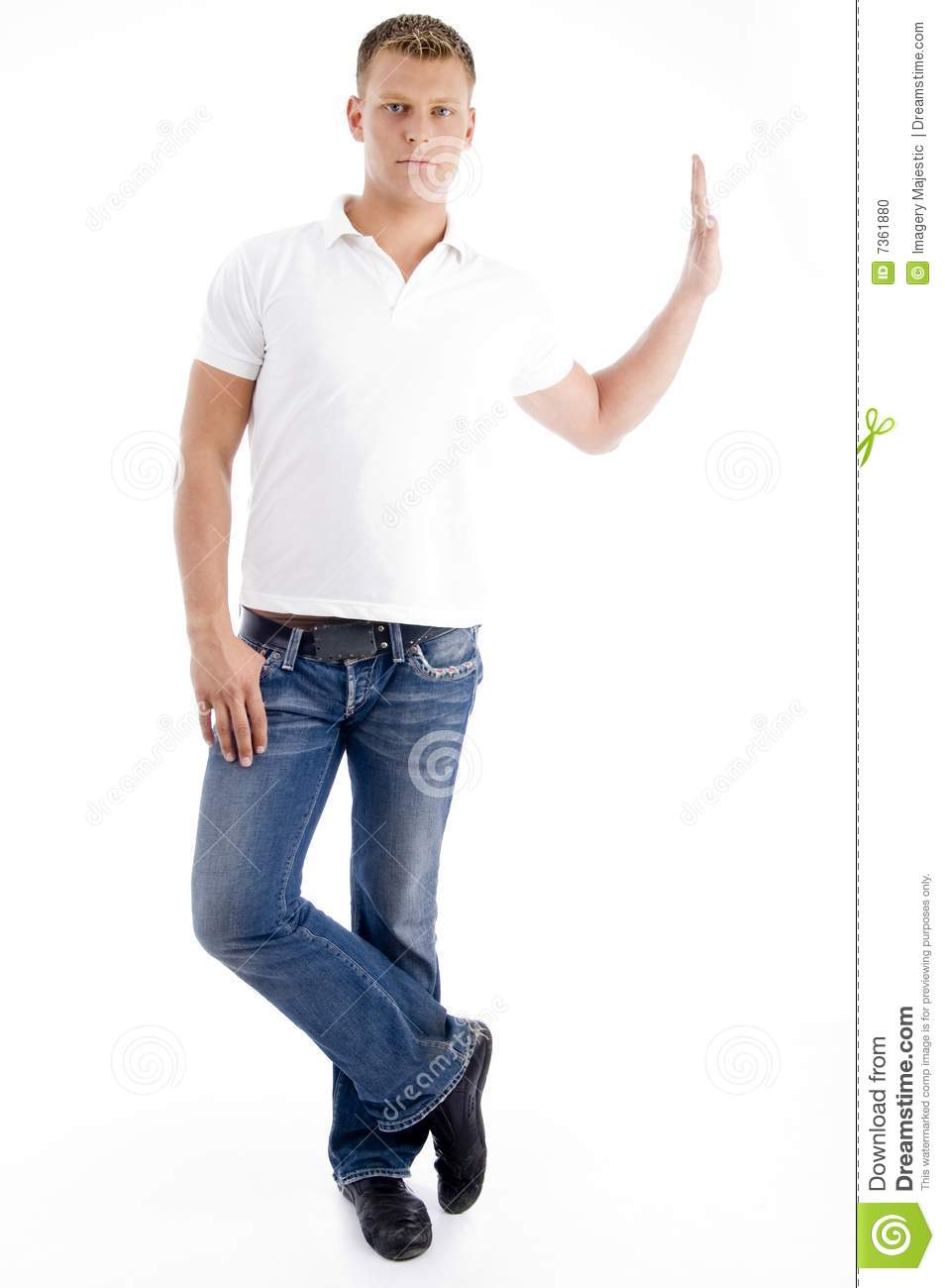 Stylish Standing Pose Of Man Stock Photo Image Of Isolated Years
