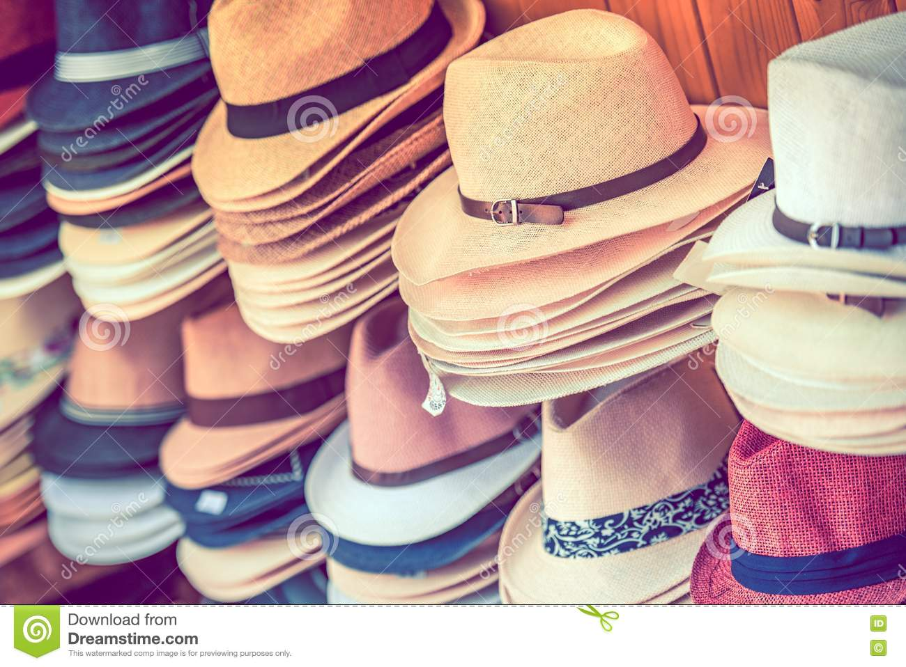 Stylish Summer Hats stock image. Image of fashion dfe6911c0a2