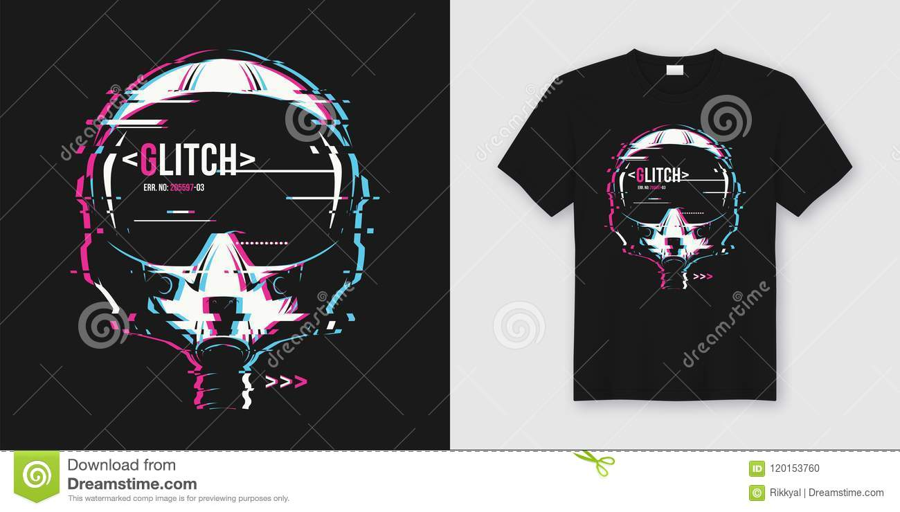 7ab87ca6 Royalty-Free Vector. Stylish t-shirt and apparel trendy design with glitchy  flight he