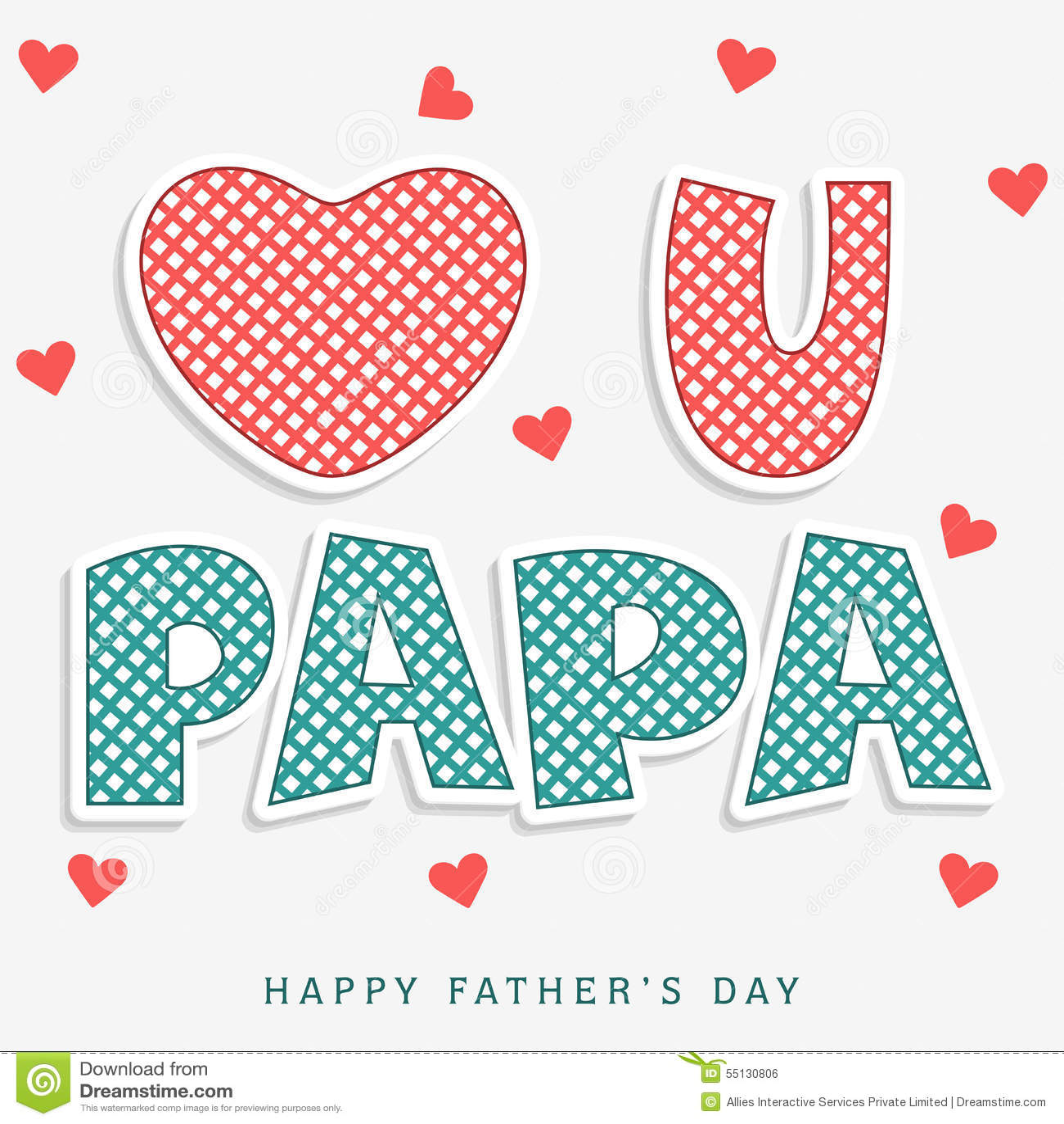 Stylish Text For Happy Fathers Day Celebration Stock Illustration