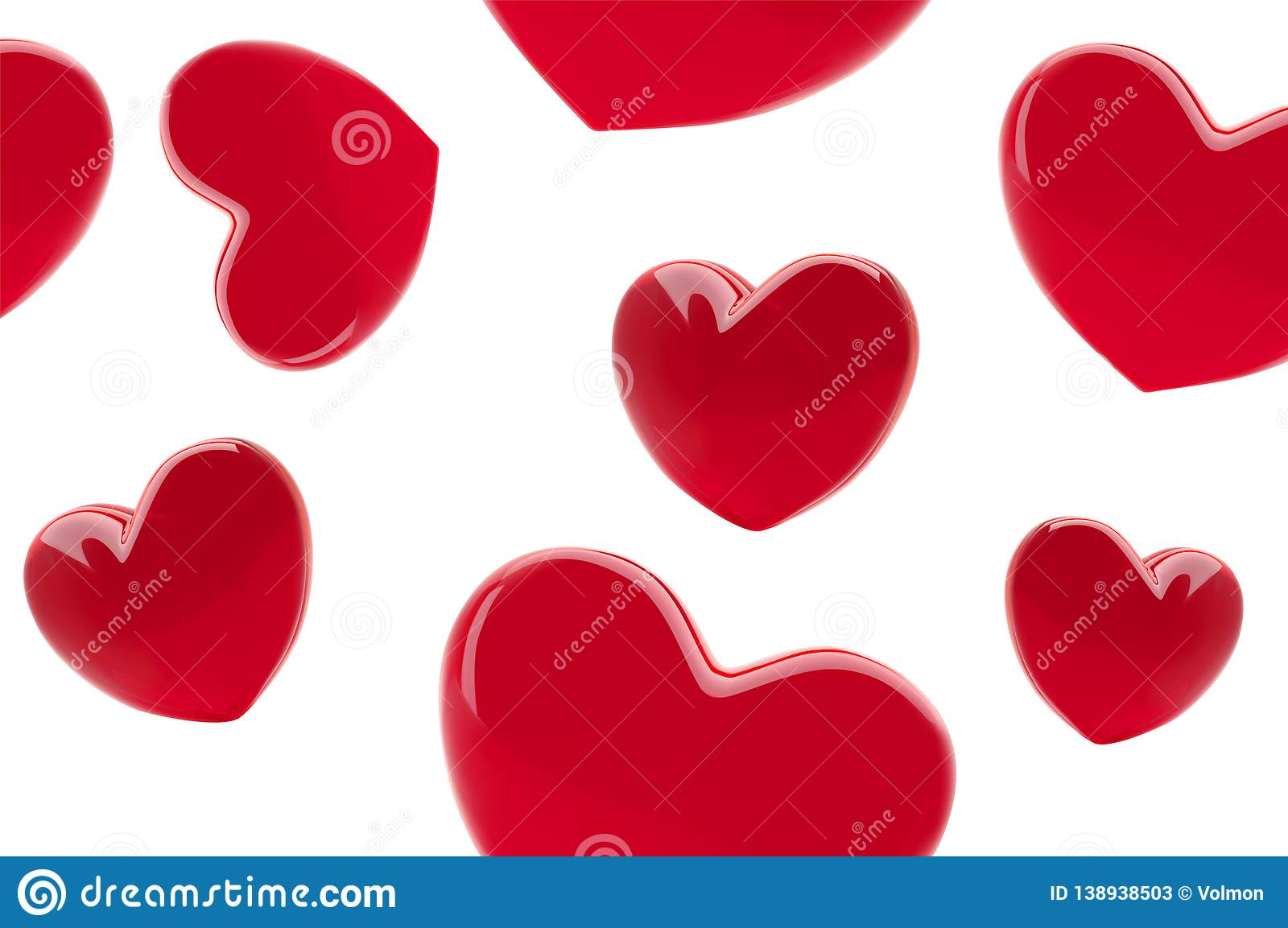Stylish Valentine S Day Background Seamless Pattern With Red 3d