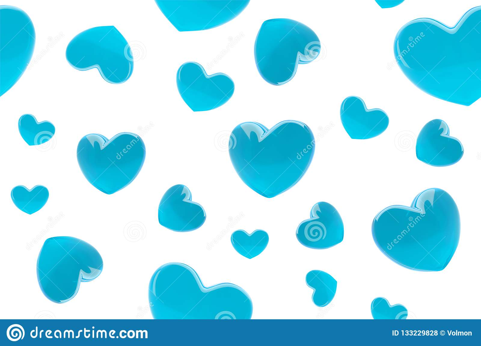 Stylish Valentine S Day Background Seamless Pattern With Turquoise