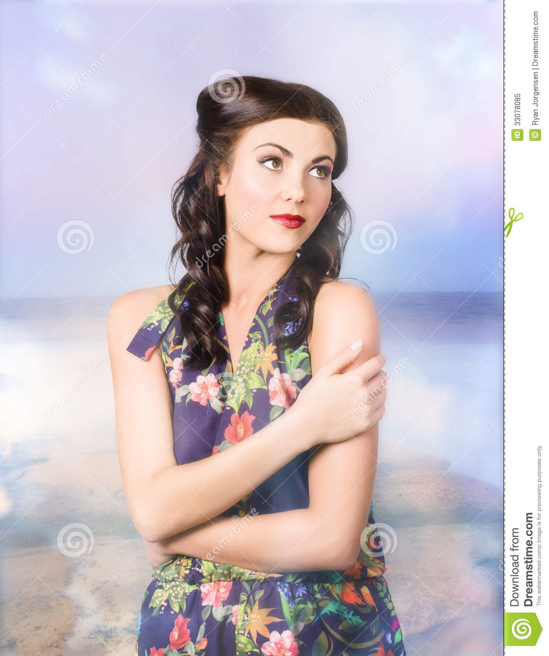 Stylish Vogue Model In The Great Outdoors Stock Image