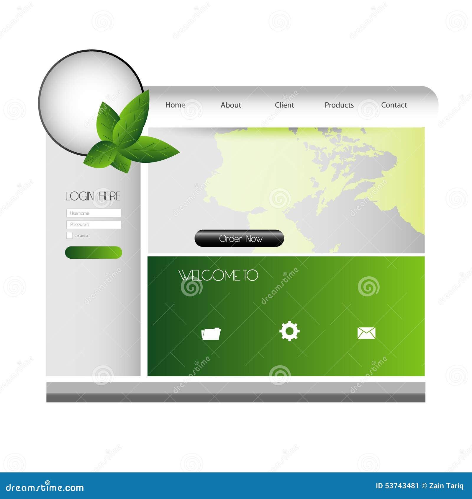 stylish website template portfolio layout stock vector image 53743481