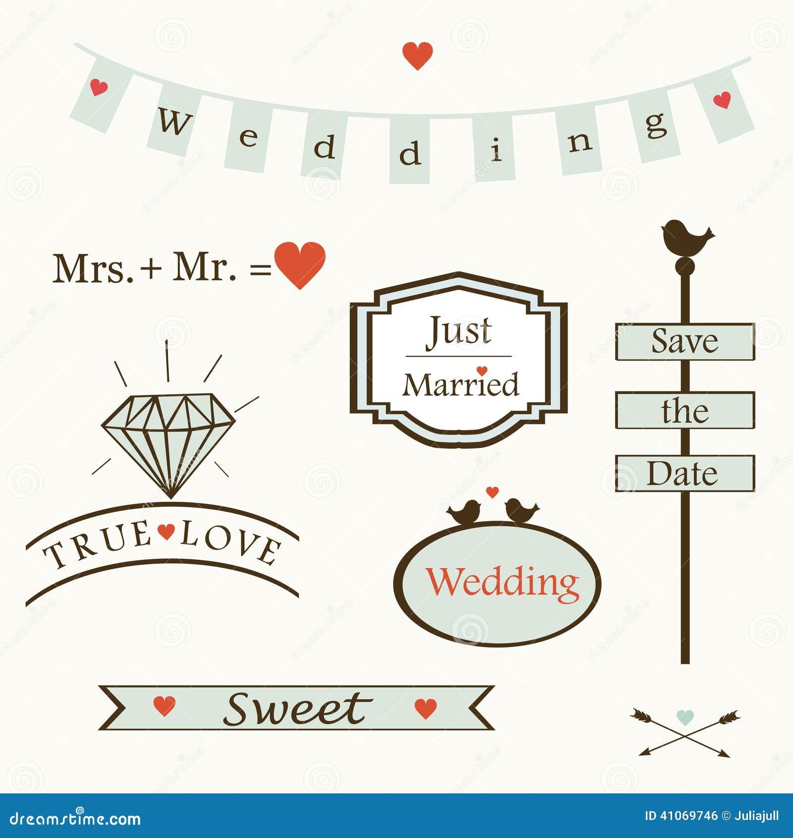 Stylish wedding elements and logos and labelsand symbols vector stylish wedding elements and logos and labelsand symbols vector buycottarizona Gallery