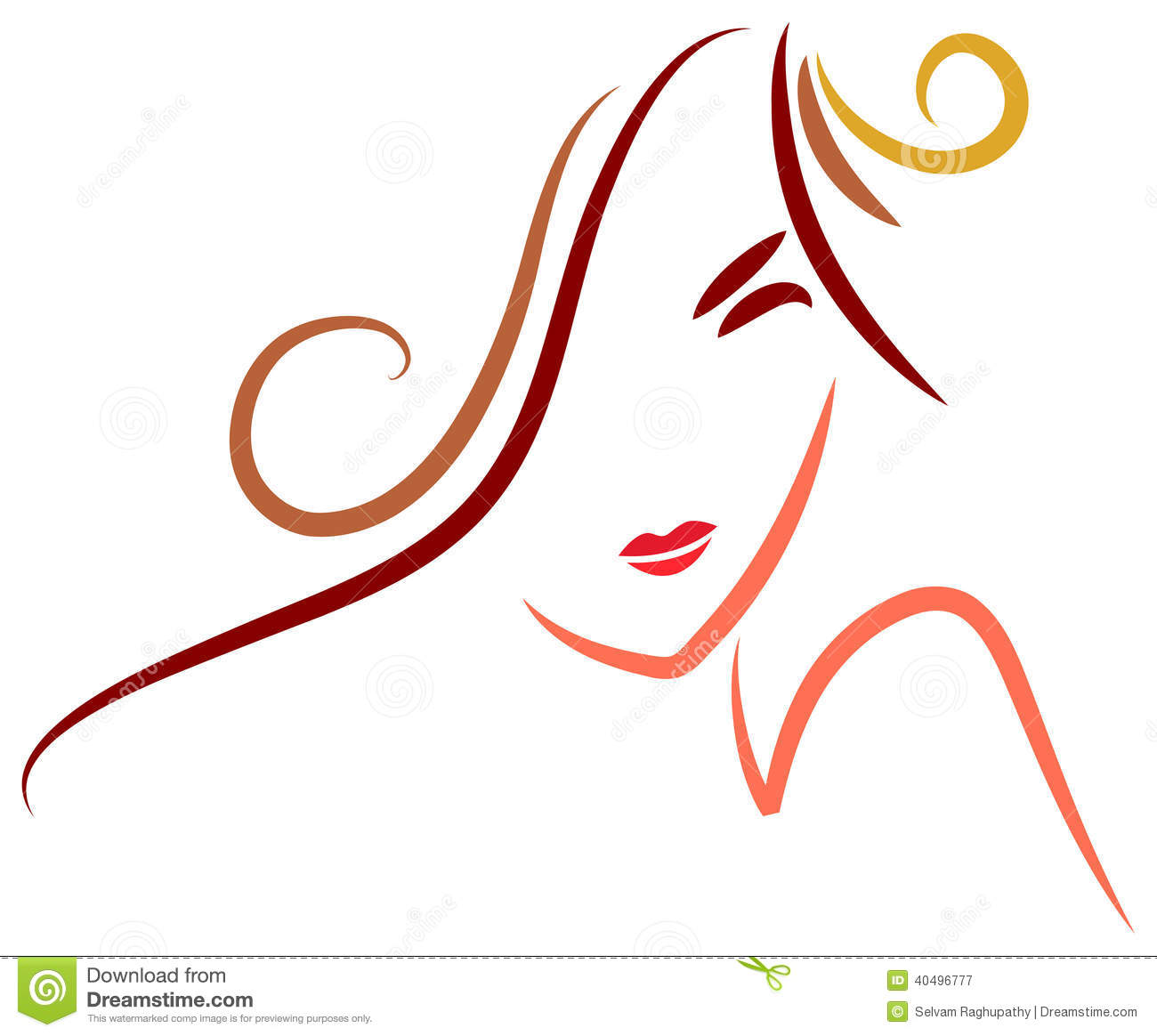 Line Art Womans Face : Stylish woman stock vector image