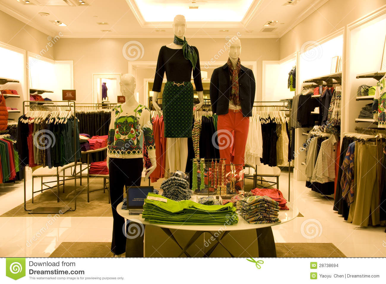 Stock Images: Stylish woman clothing in store
