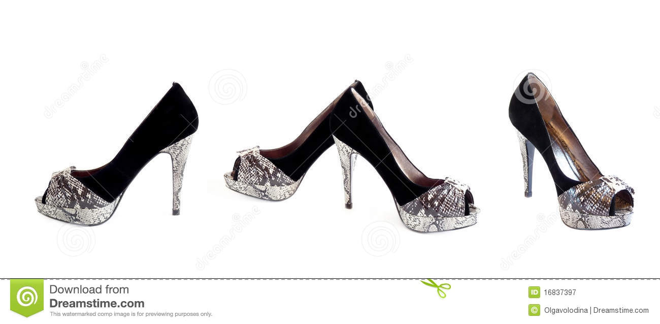 Royalty Free Stock Photography: Stylish women s shoes, collage