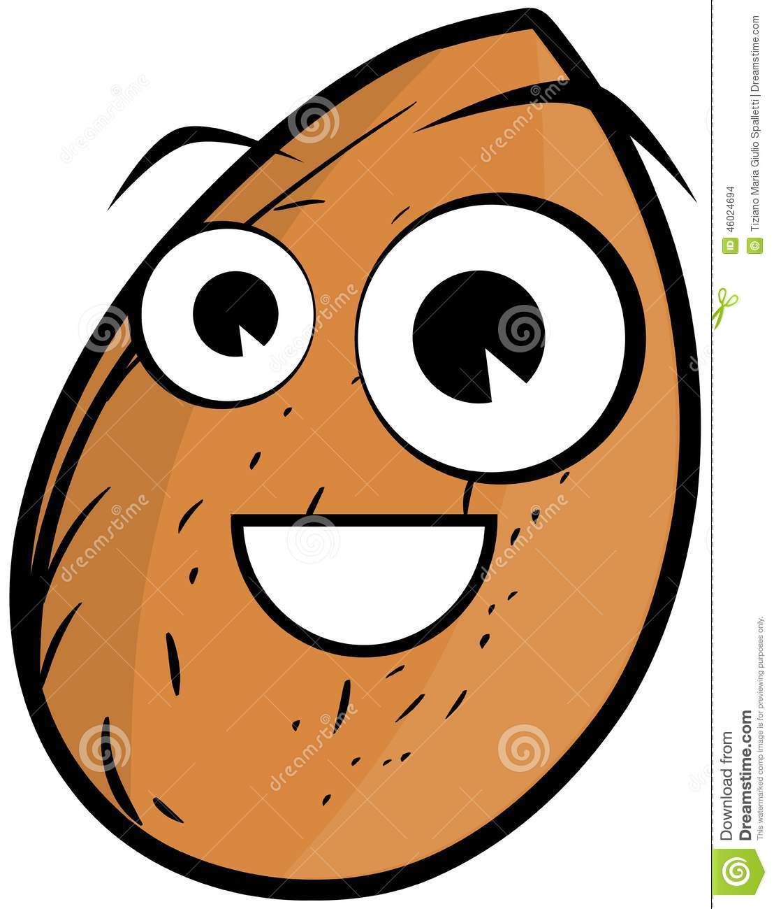 Image representing a stylized almond a nice idea that can be used in
