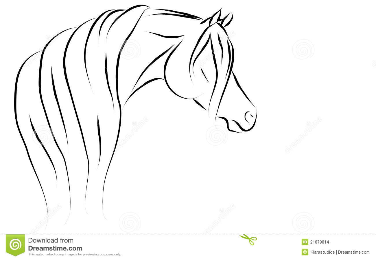 Stylized arabian vector illustration stock images image for Disegno cavallo stilizzato