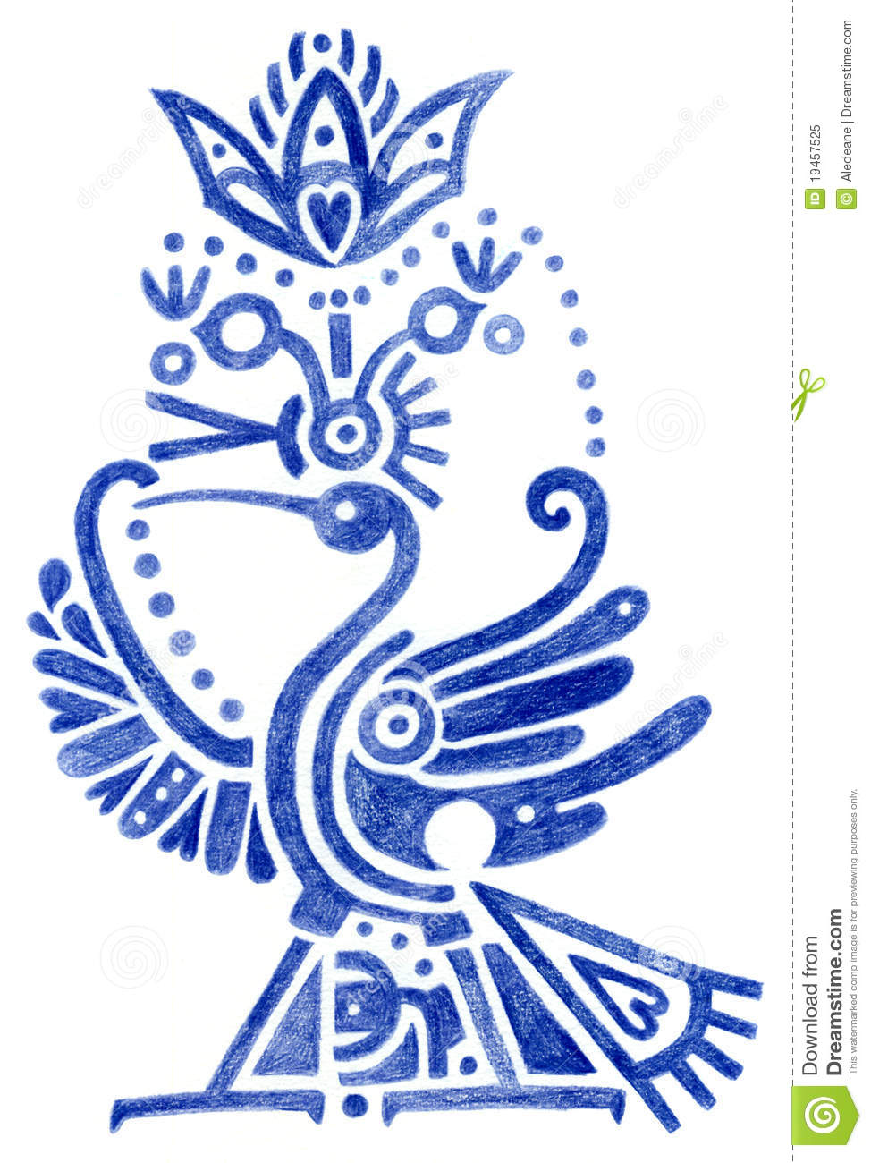 Stylized Bird Egyptian Style Stock Illustration Illustration Of
