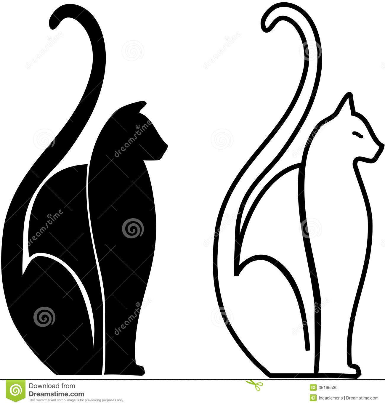 stock photo stylized cats image 35195530 grim reaper clipart black and white Grim Reaper Clip Art Black and White