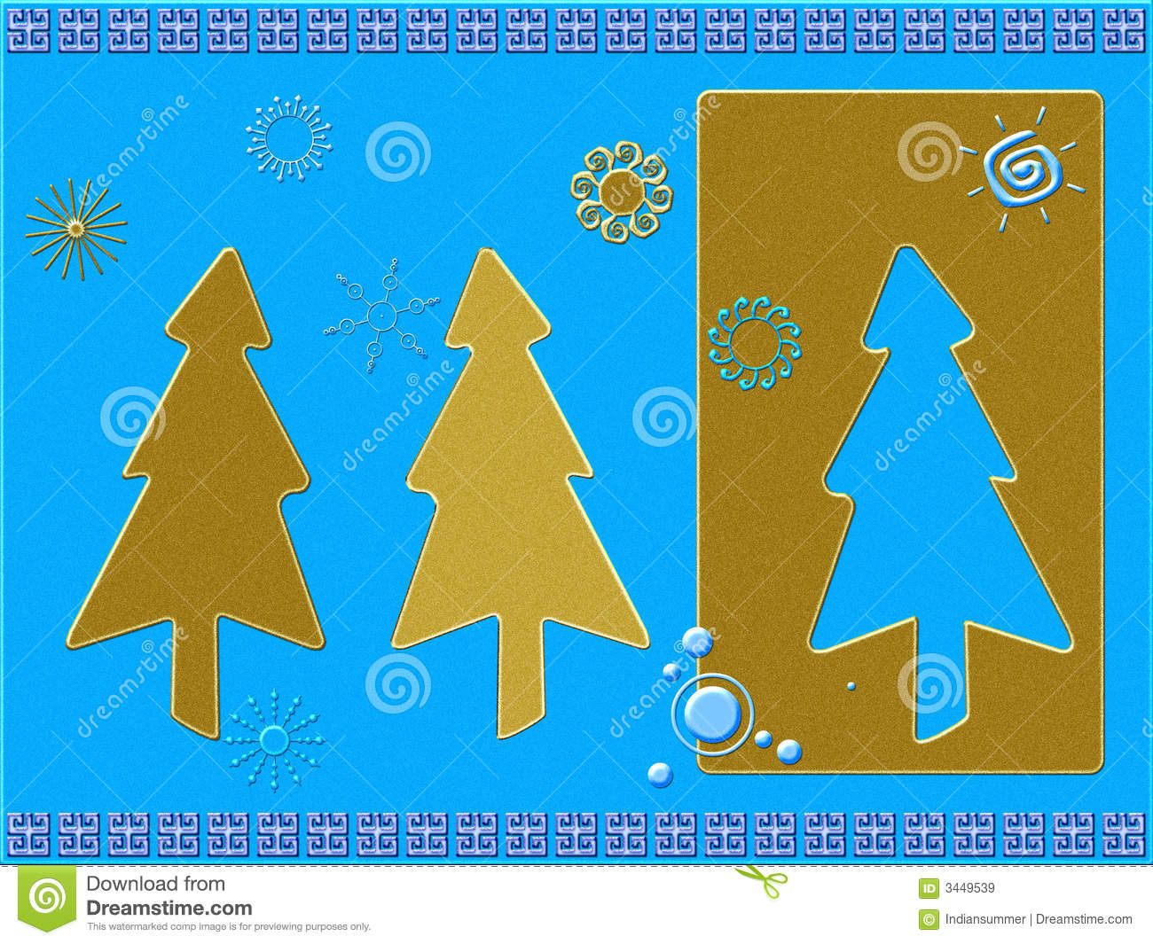 Stylized Christmas card