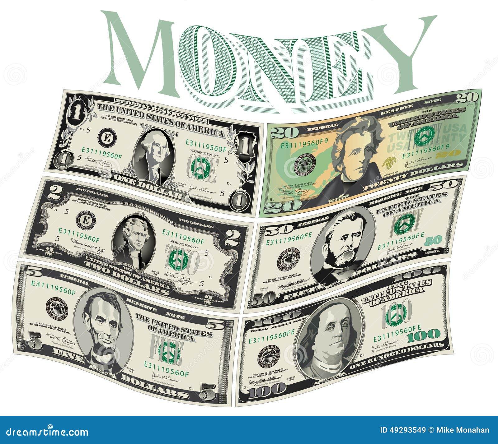 Stylized drawings of Bills