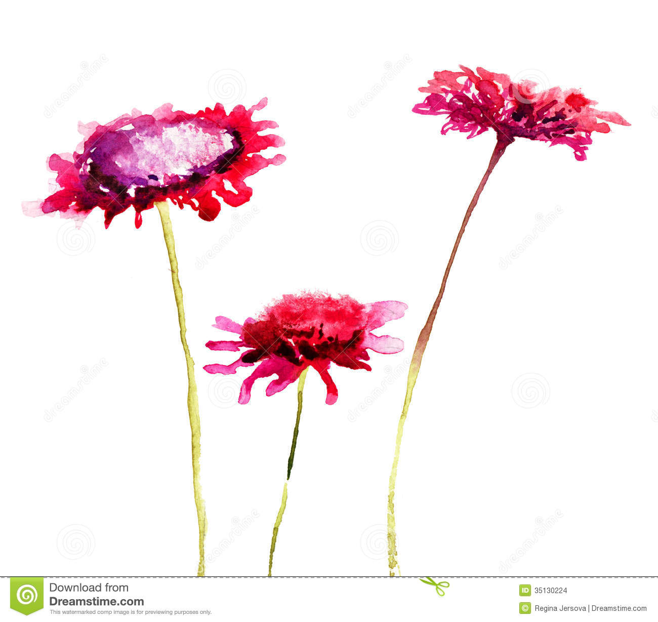 Stylized Flowers Stock Illustration Illustration Of