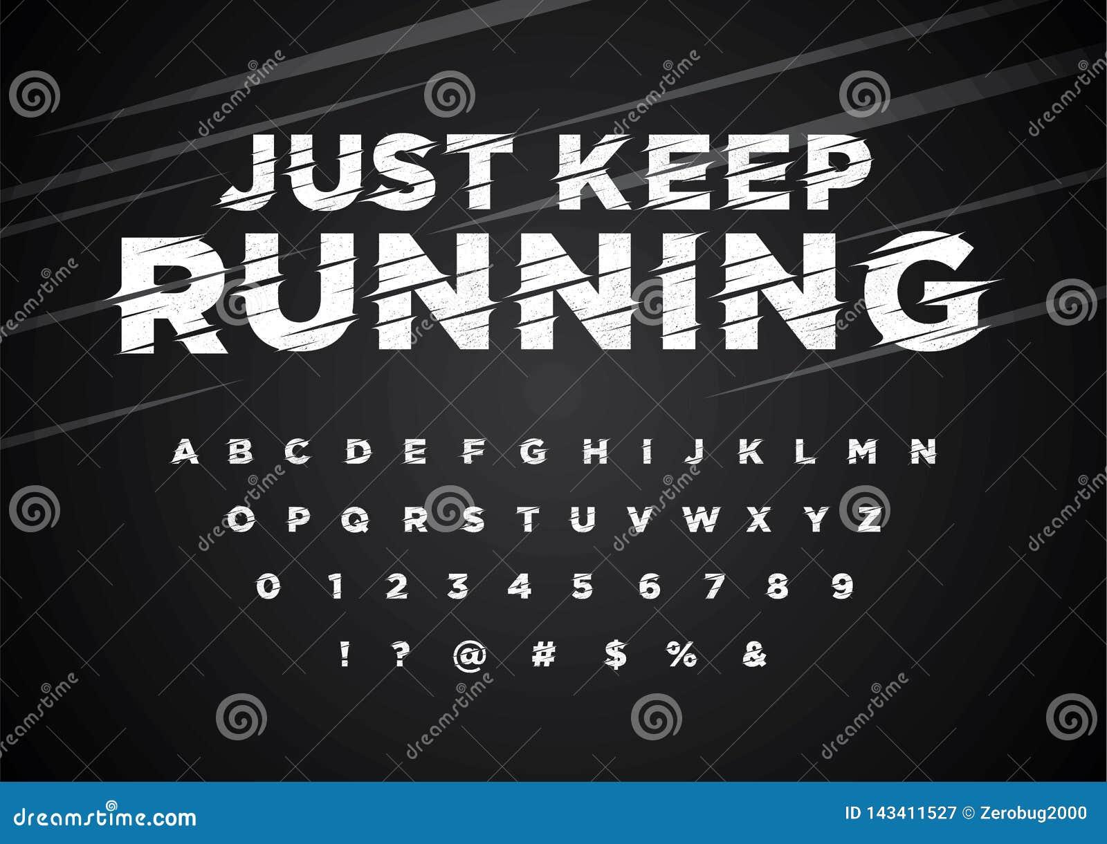 Stylized font