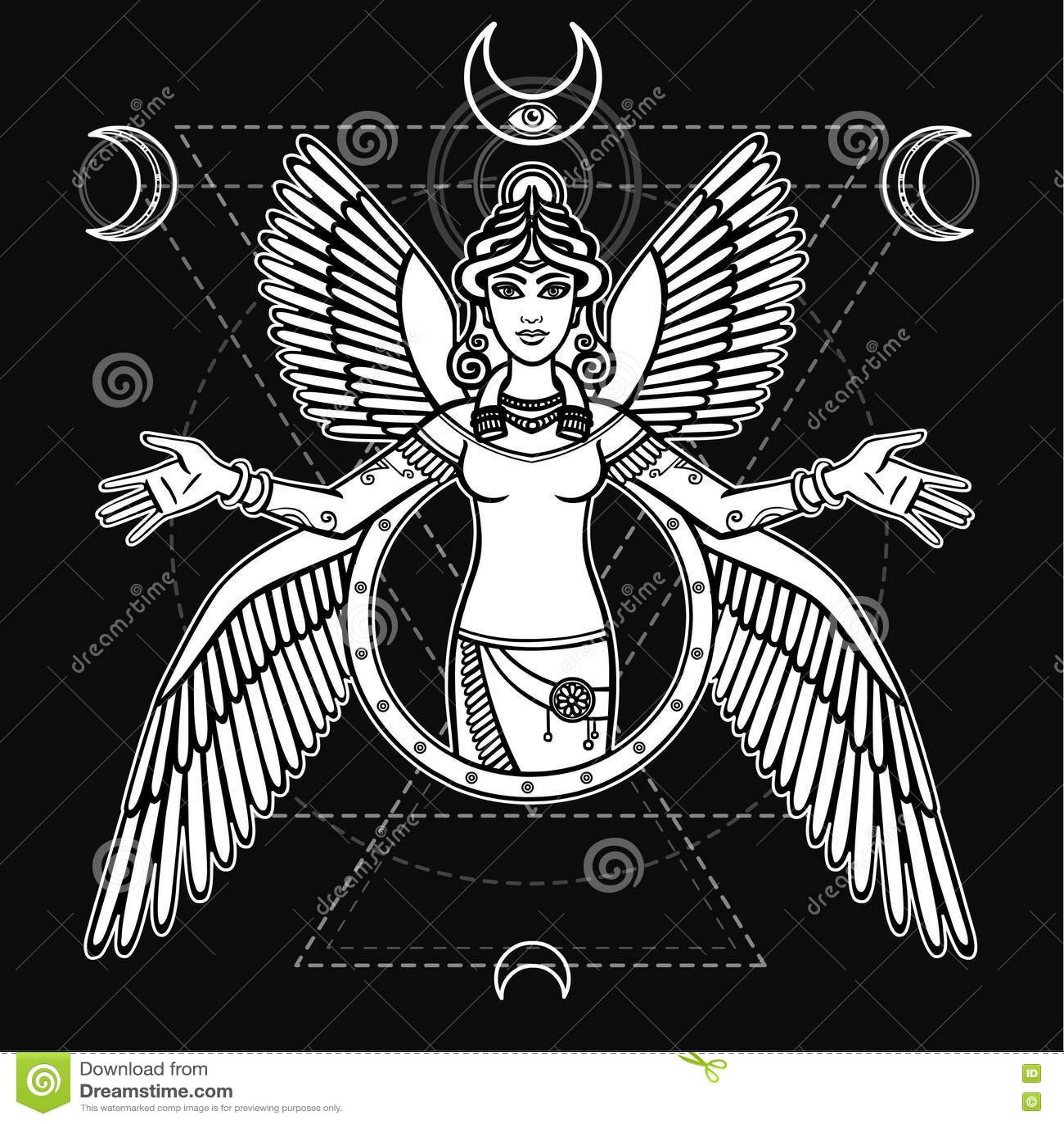 Stylized goddess ishtar stock vector illustration of astronomy stylized goddess ishtar biocorpaavc