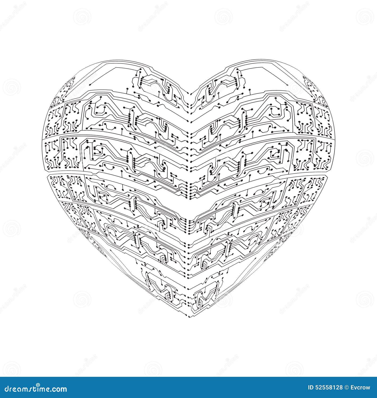 stylized heart stock vector  illustration of design  chip