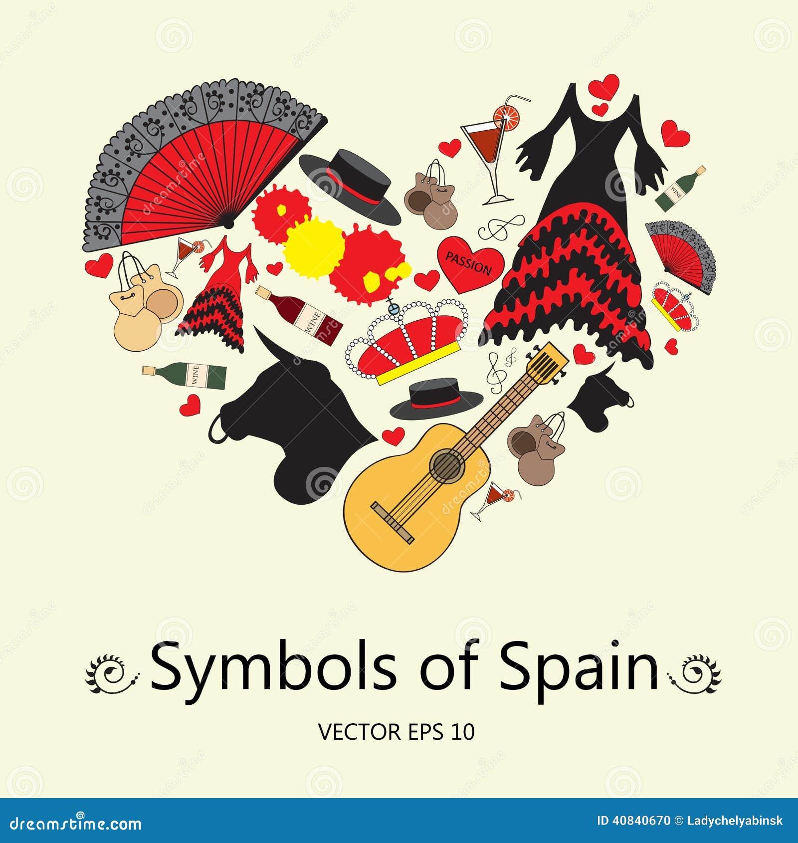 Typisch Spanische Symbole
