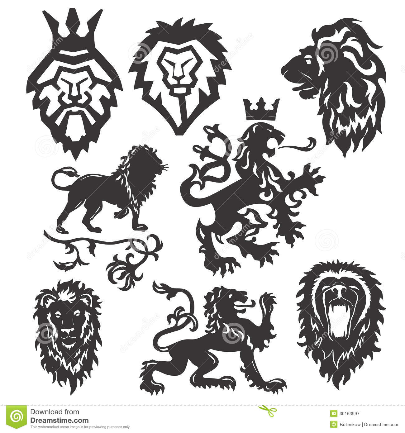 Vector Stylized Heraldic Symbol Stock Vector Illustration Of