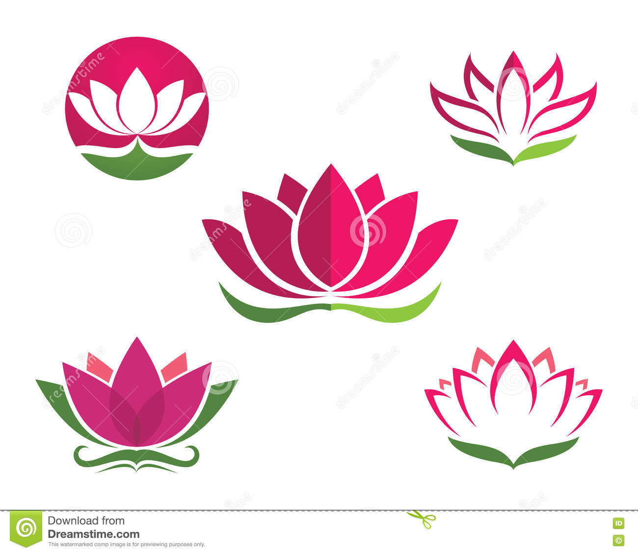 Stylized lotus flower icon vector background stock vector image royalty free vector dhlflorist Images