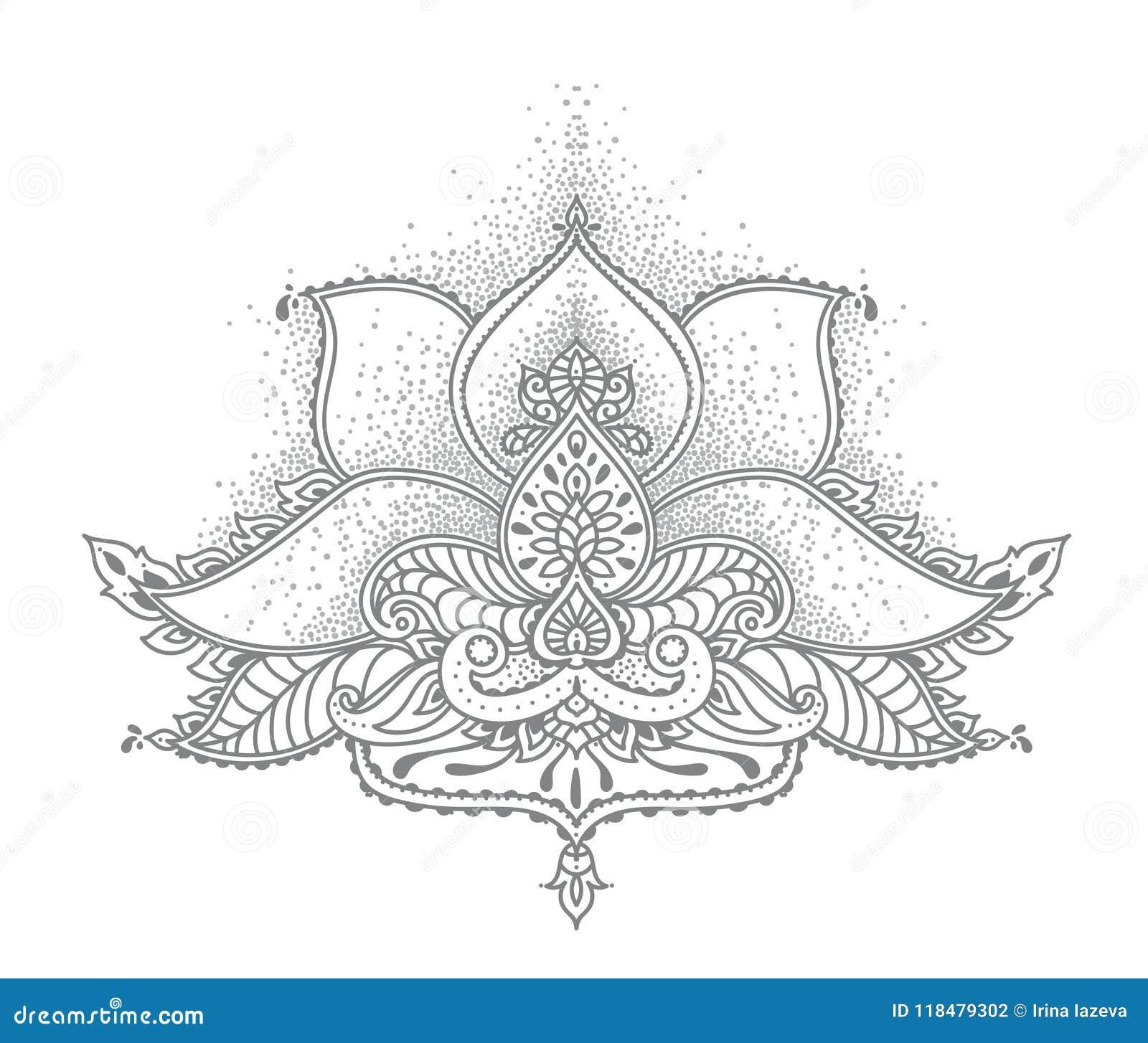 Stylized lotus flower in indian mehndi style stock vector download stylized lotus flower in indian mehndi style stock vector illustration of meditation asian mightylinksfo