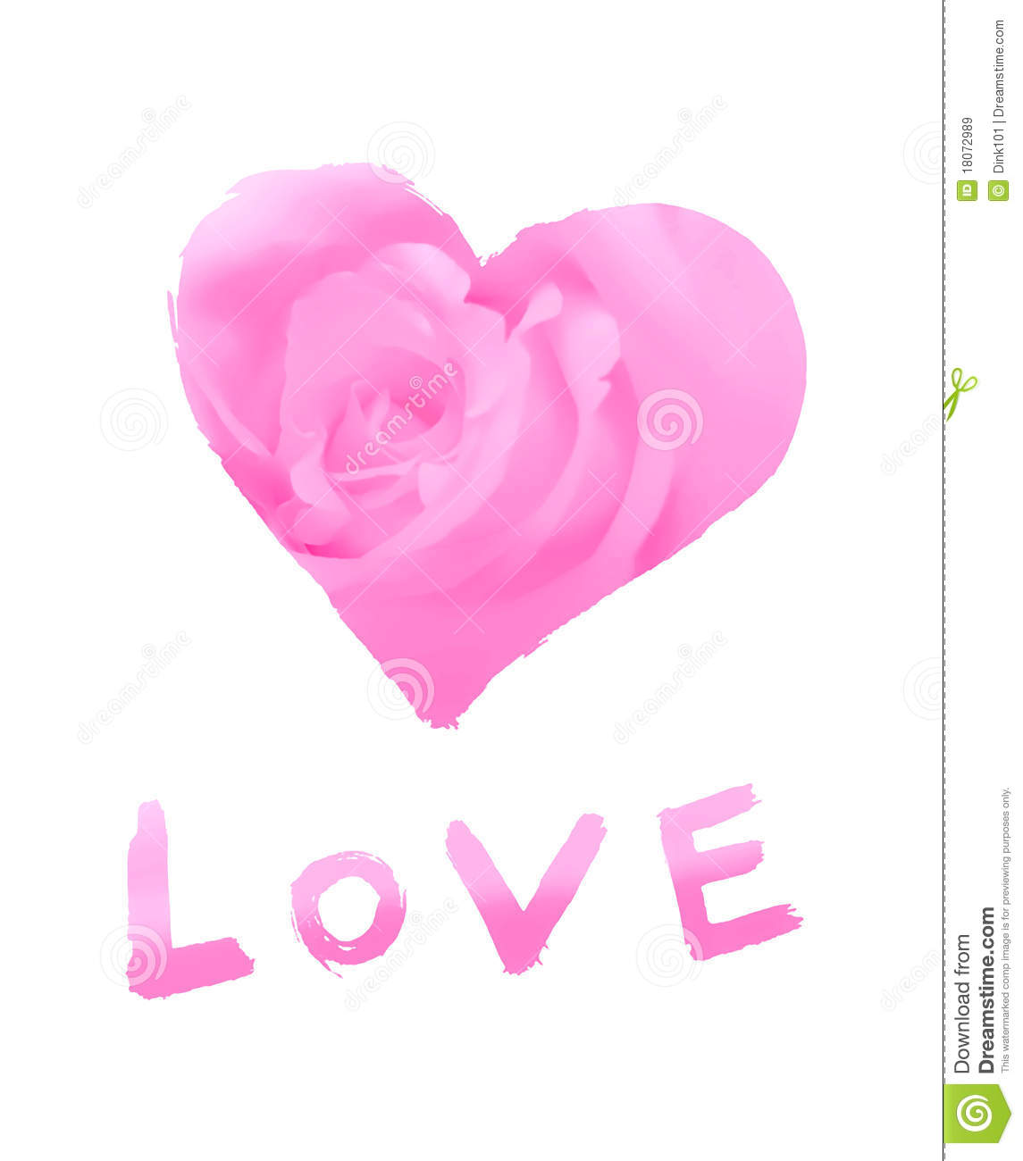 Stylized love symbol with word   love