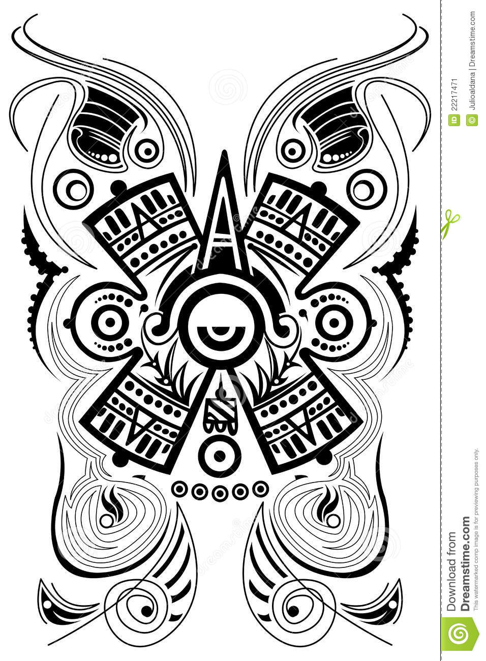 Stylized mayan symbol tattoo vector stock vector stylized mayan symbol tattoo vector biocorpaavc
