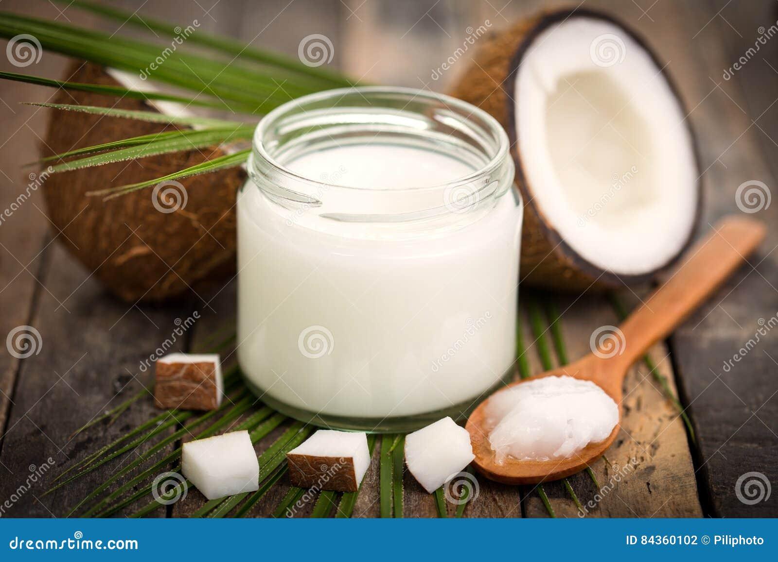 Stylized olja för kokosnötdroppillustration