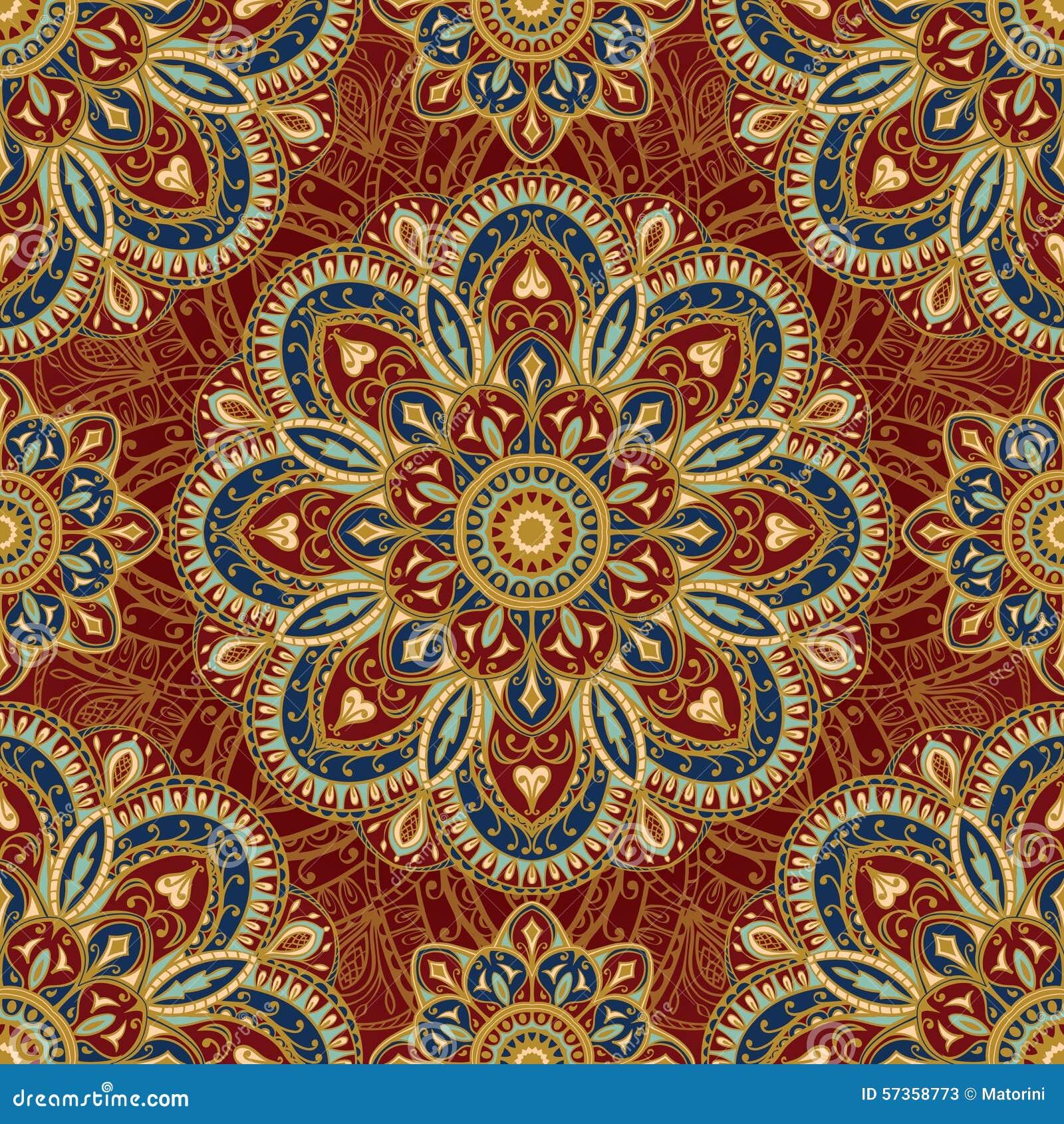 stylized oriental medieval pattern stock vector illustration of mandala carving 57358773. Black Bedroom Furniture Sets. Home Design Ideas