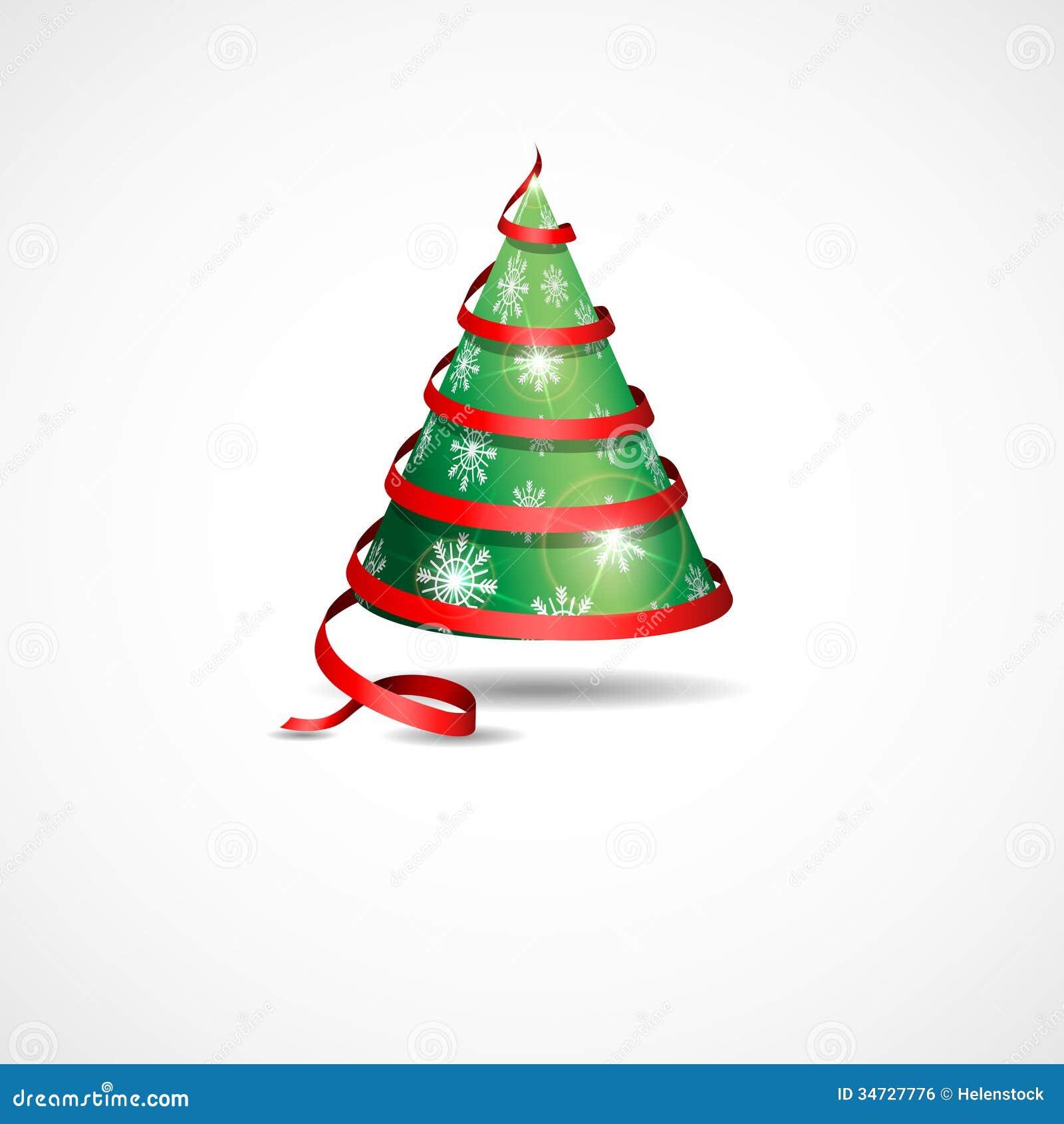 stylized ribbon christmas tree stock vector image 34727776