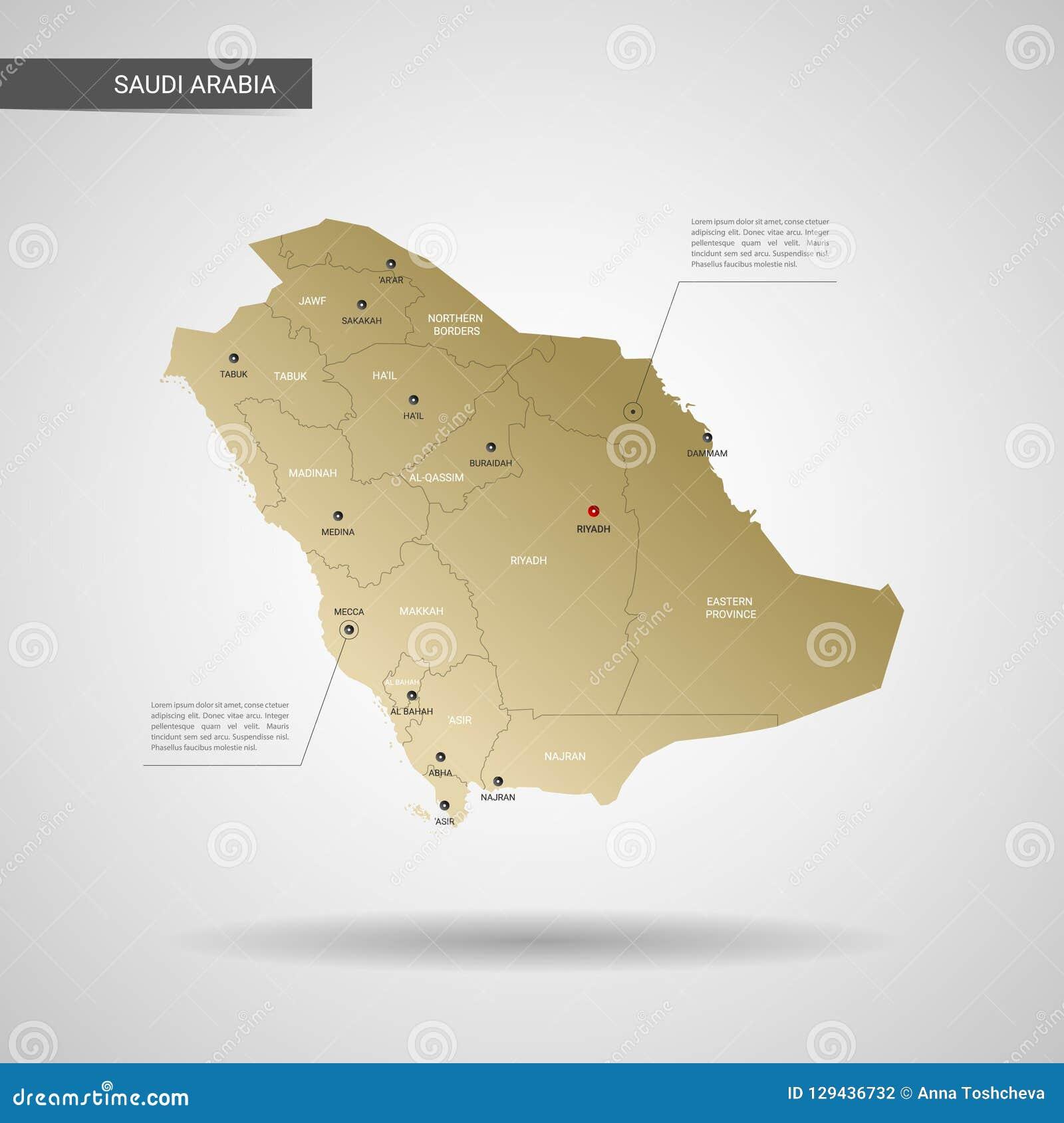 Stylized Saudi Arabia Map Vector Illustration. Stock Vector ...