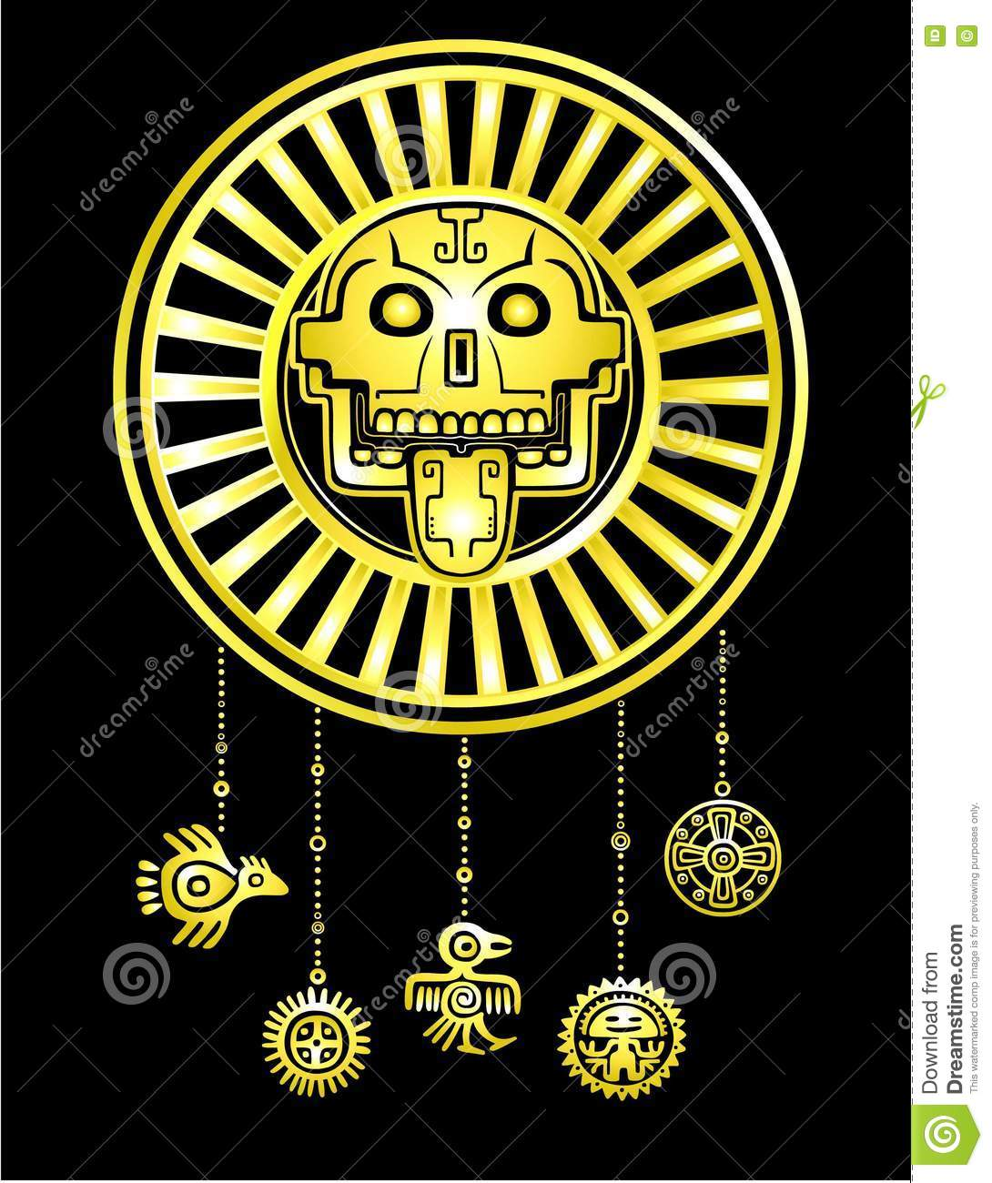 Stylized skull pagan god of death motives of art native american pagan god of death motives of art native american indian biocorpaavc Images