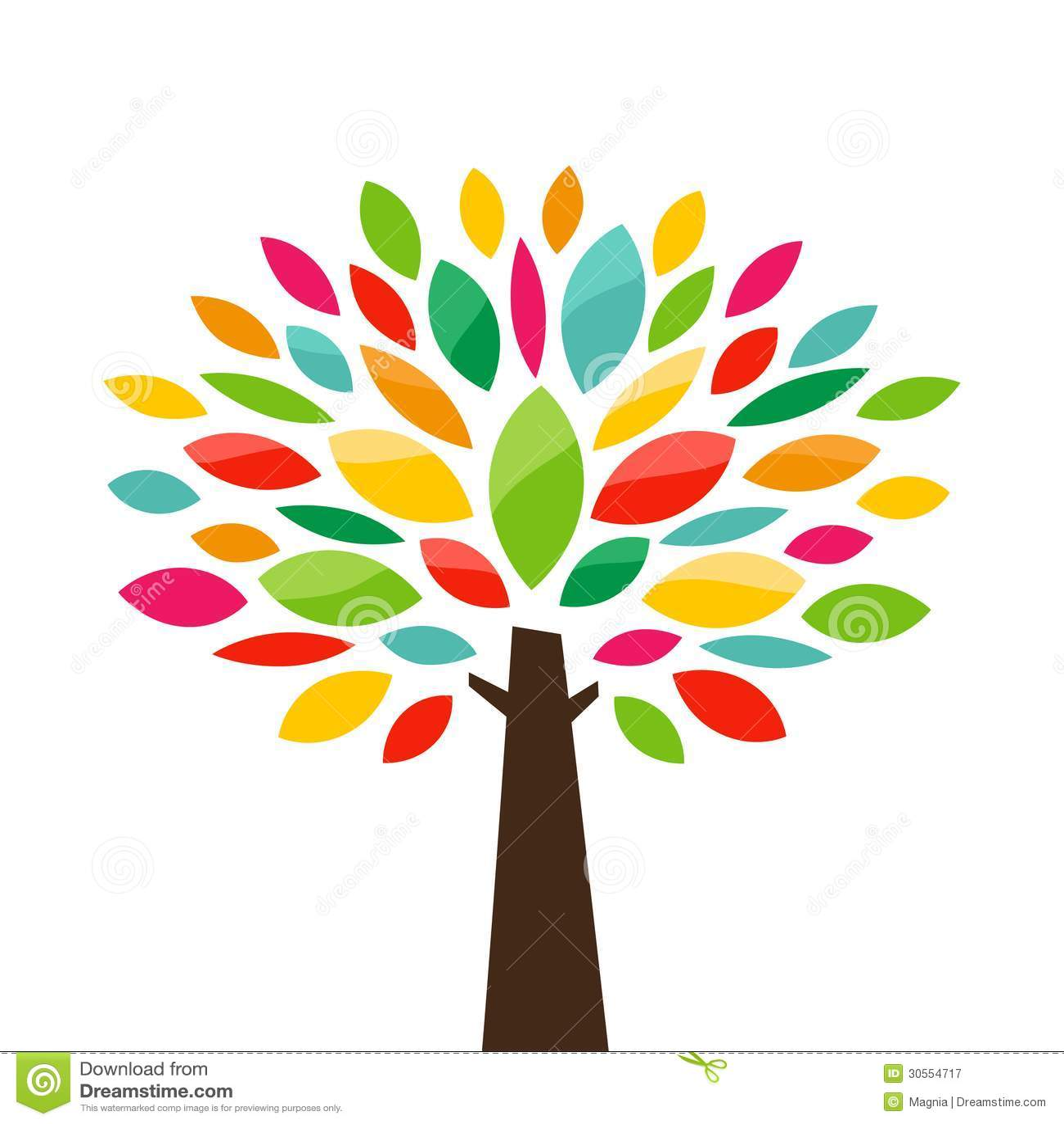 Stylized Tree Royalty Free Stock Photography - Image: 30554717